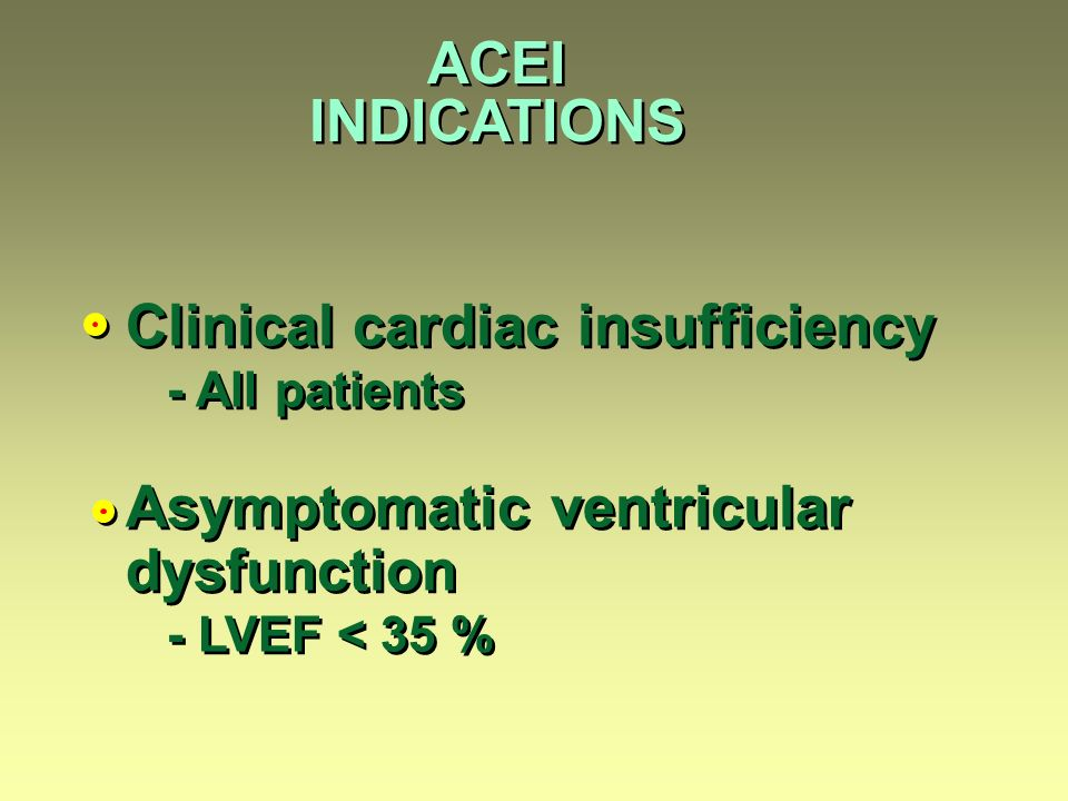 Clinical cardiac insufficiency