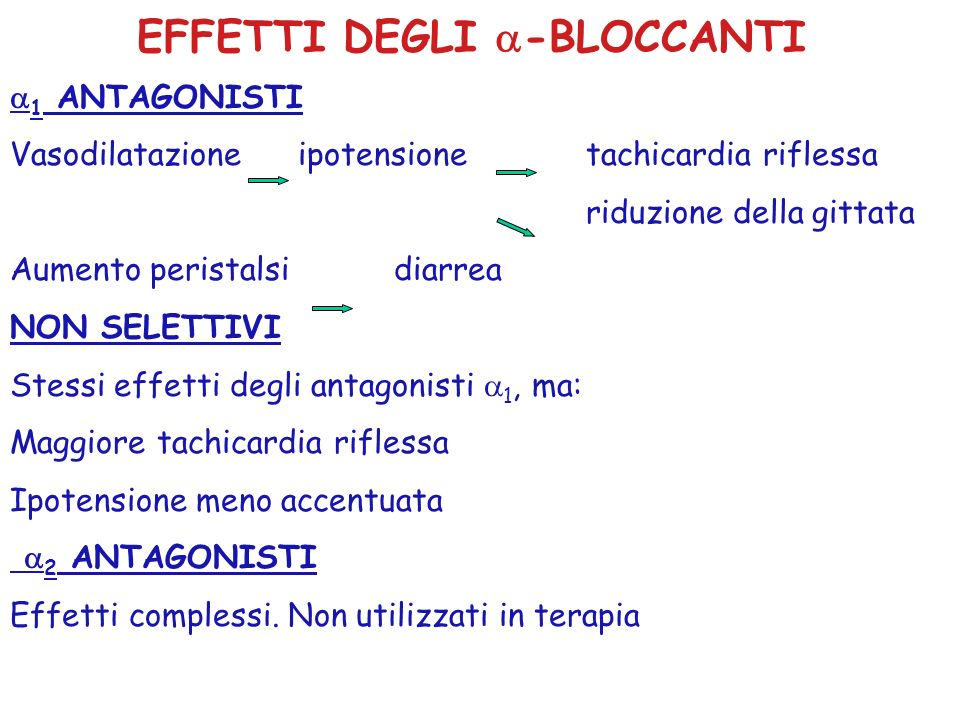 EFFETTI DEGLI -BLOCCANTI