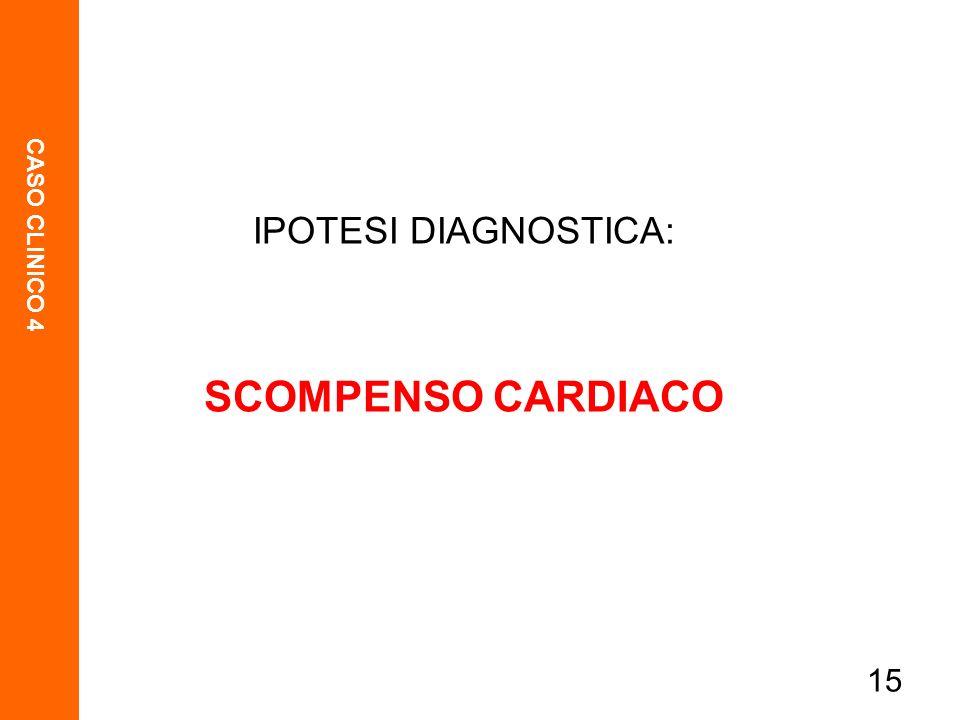 IPOTESI DIAGNOSTICA: SCOMPENSO CARDIACO 15