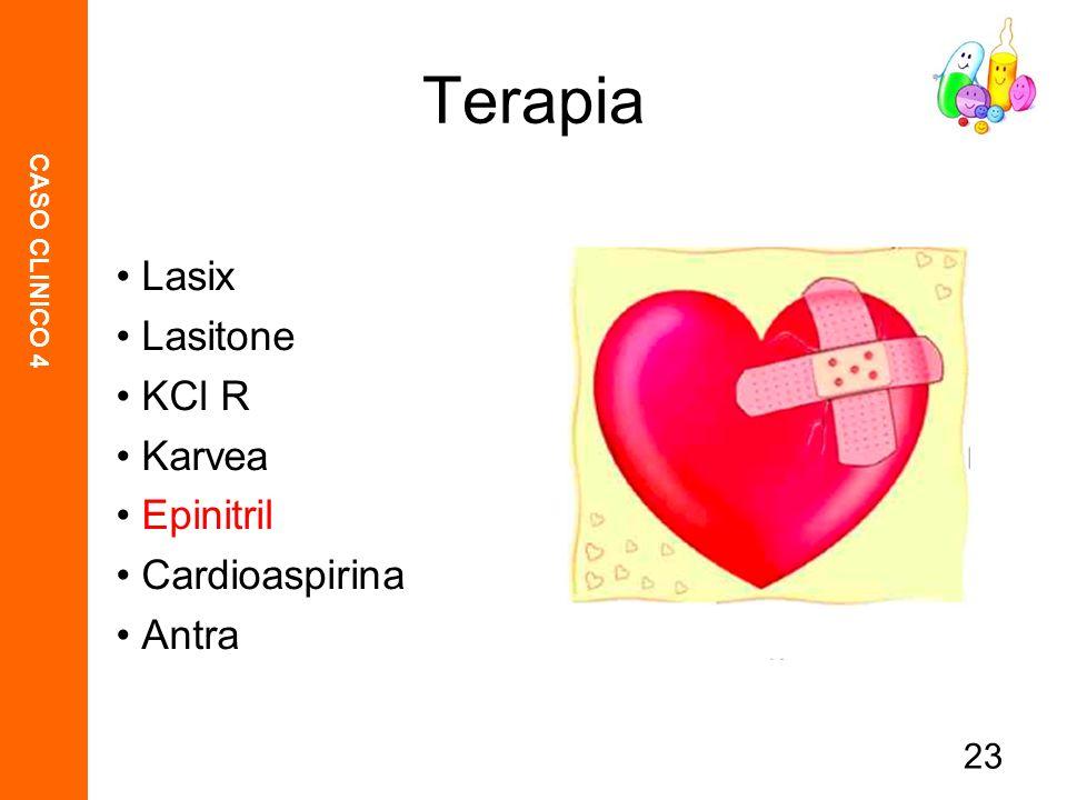 Terapia Lasix Lasitone KCl R Karvea Epinitril Cardioaspirina Antra