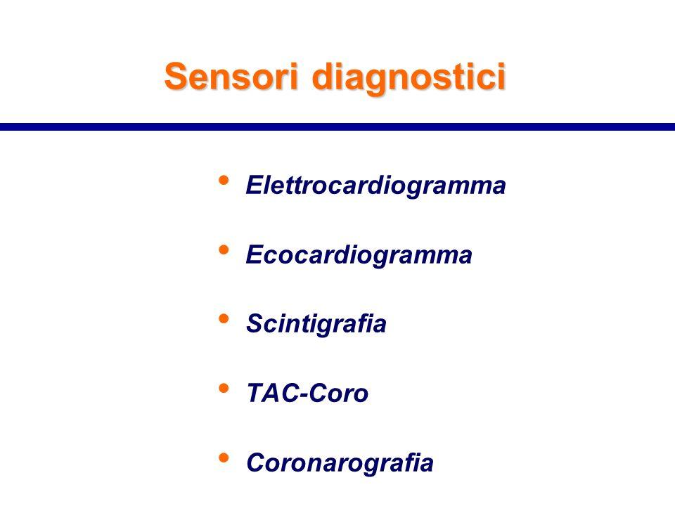 Sensori diagnostici Elettrocardiogramma Ecocardiogramma Scintigrafia
