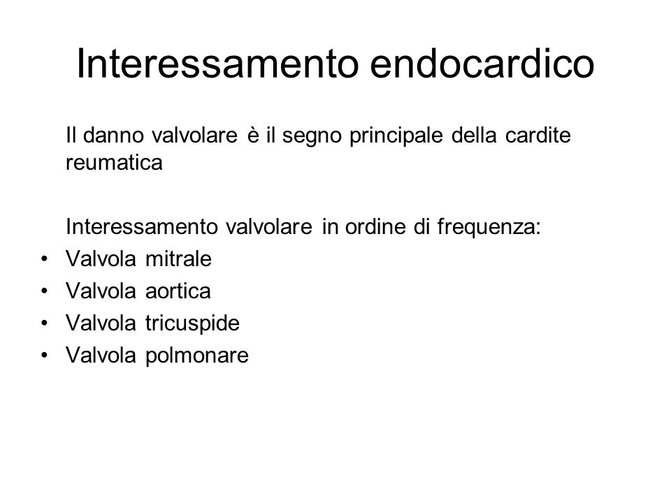 Interessamento endocardico