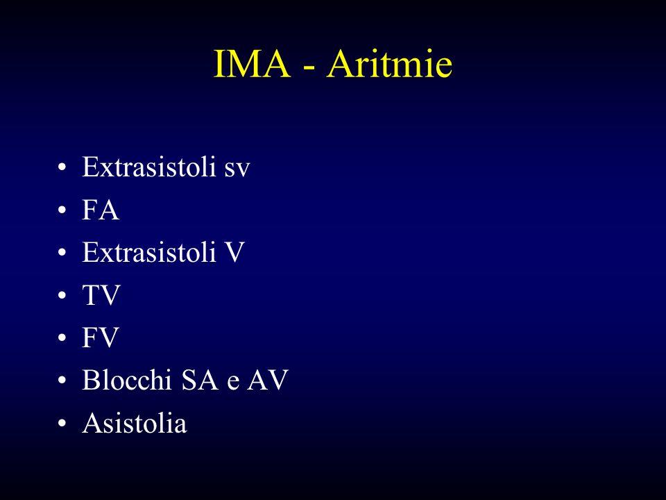 IMA - Aritmie Extrasistoli sv FA Extrasistoli V TV FV Blocchi SA e AV