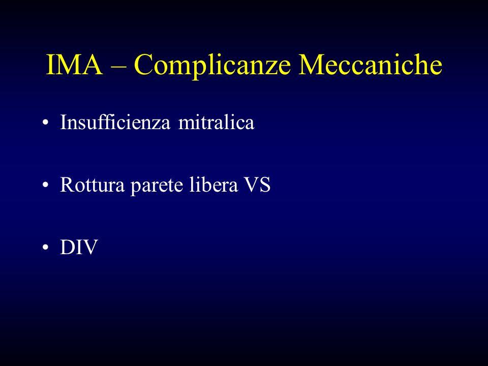 IMA – Complicanze Meccaniche