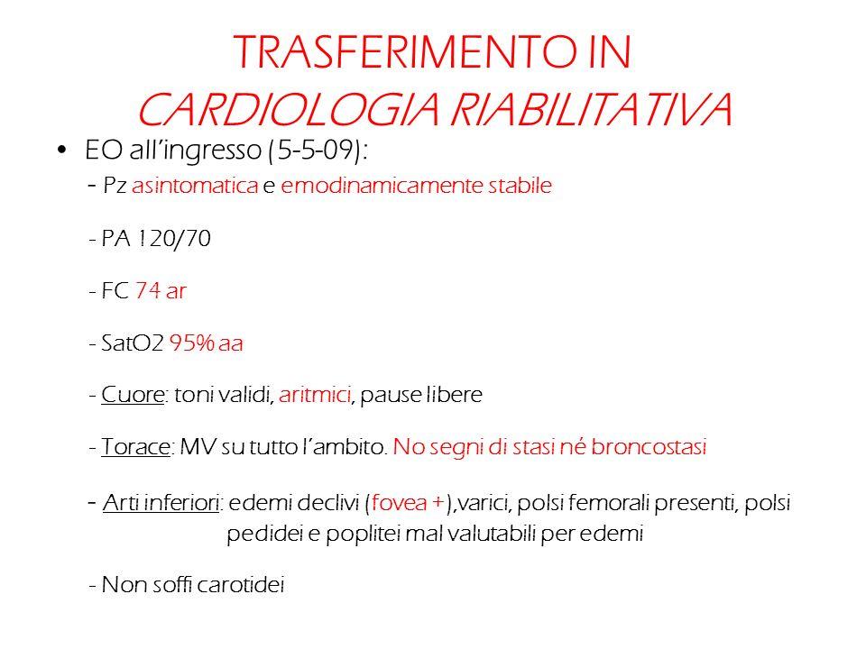TRASFERIMENTO IN CARDIOLOGIA RIABILITATIVA