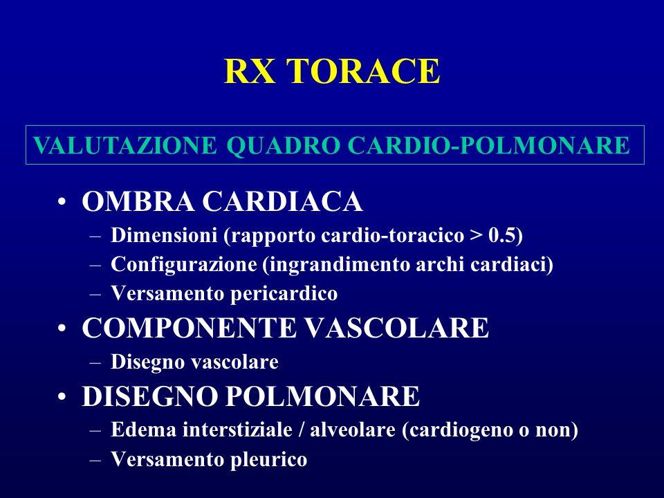 RX TORACE OMBRA CARDIACA COMPONENTE VASCOLARE DISEGNO POLMONARE