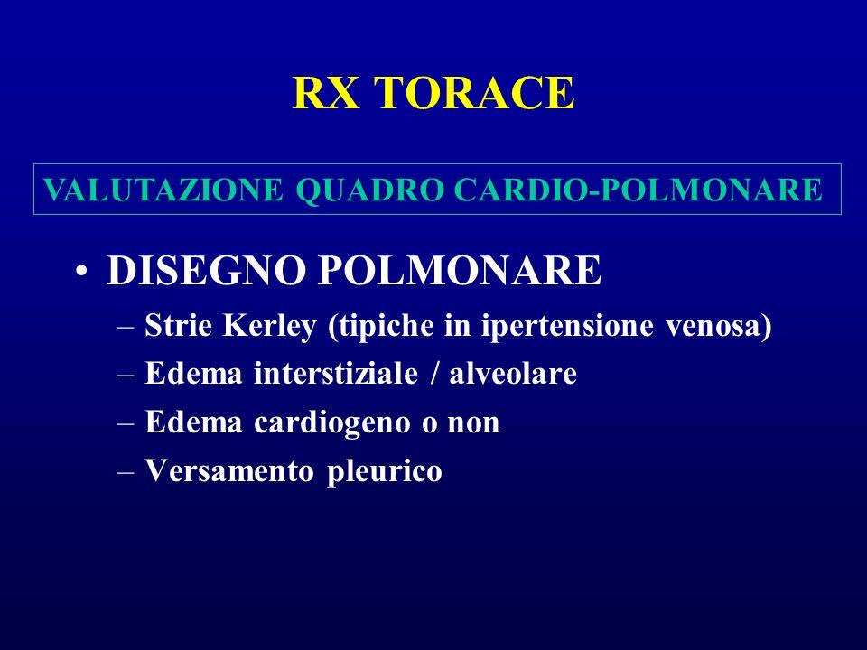 RX TORACE DISEGNO POLMONARE VALUTAZIONE QUADRO CARDIO-POLMONARE