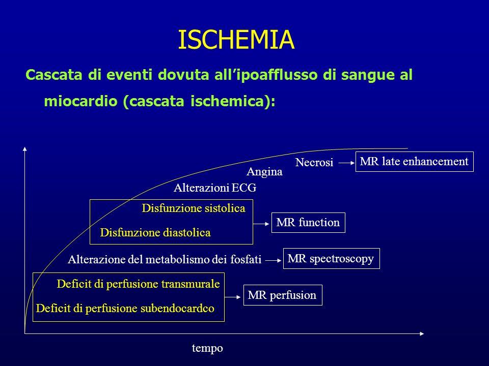 ISCHEMIA Cascata di eventi dovuta all'ipoafflusso di sangue al miocardio (cascata ischemica): Necrosi.