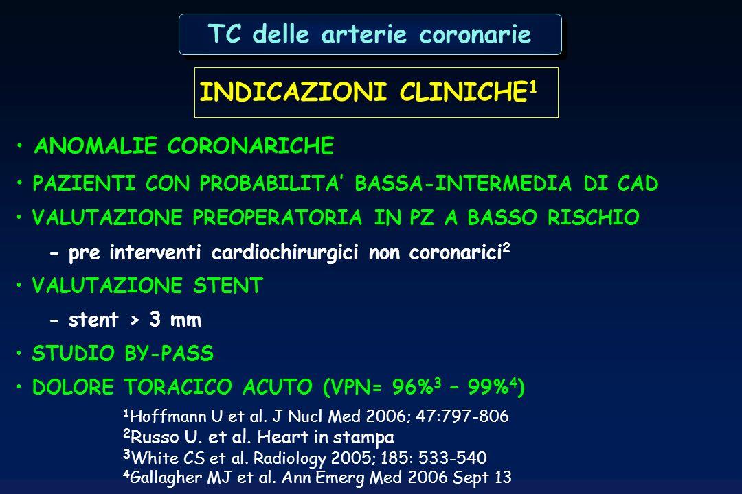 TC delle arterie coronarie