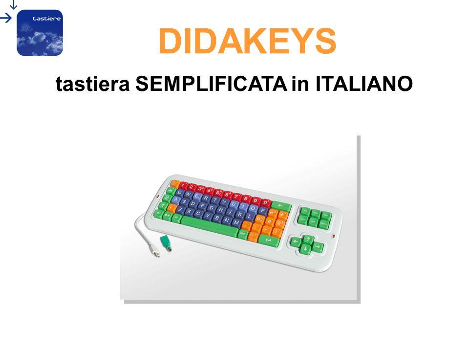 tastiera SEMPLIFICATA in ITALIANO