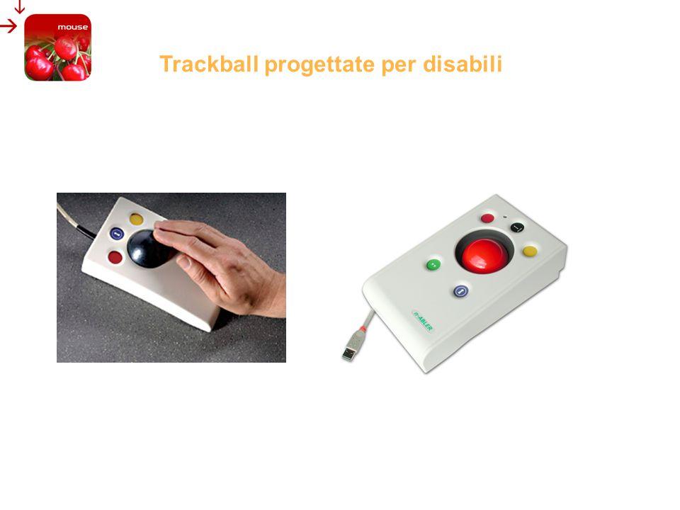 Trackball progettate per disabili