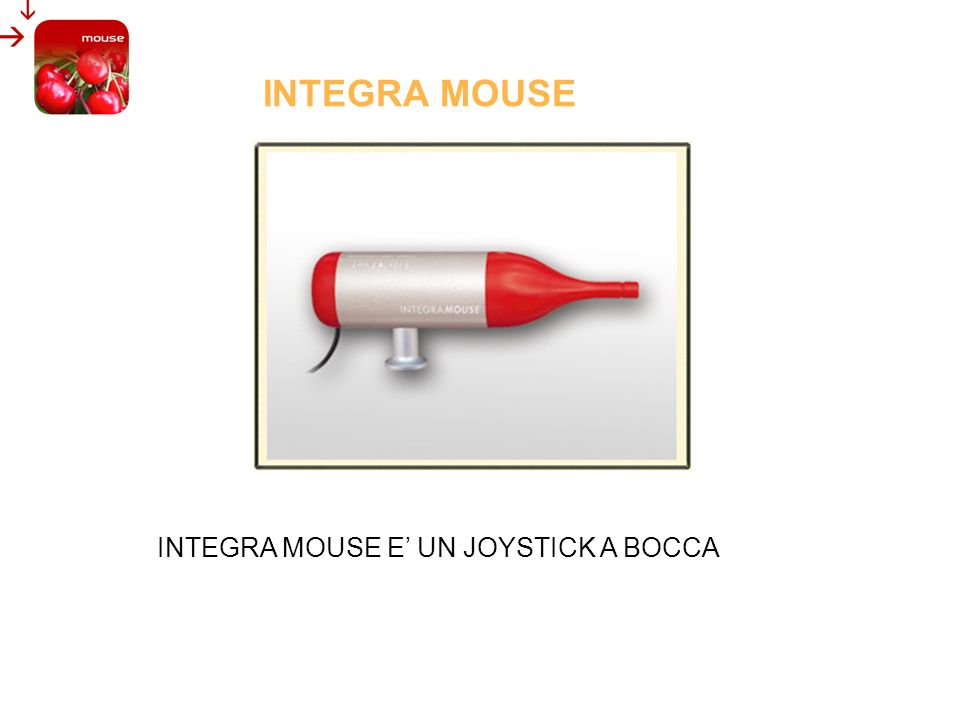 INTEGRA MOUSE INTEGRA MOUSE E' UN JOYSTICK A BOCCA INTEGRA MOUSE
