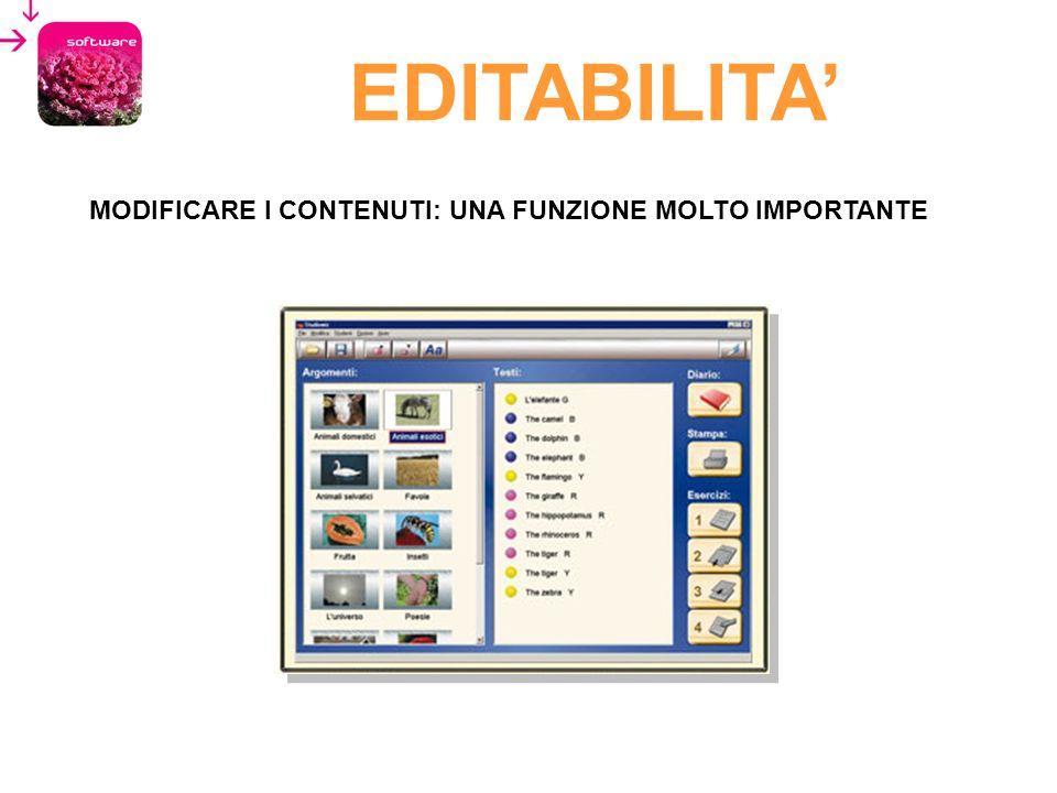EDITABILITA' MODIFICARE I CONTENUTI: UNA FUNZIONE MOLTO IMPORTANTE 61