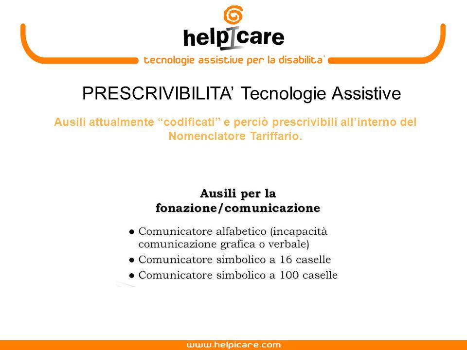 PRESCRIVIBILITA' Tecnologie Assistive