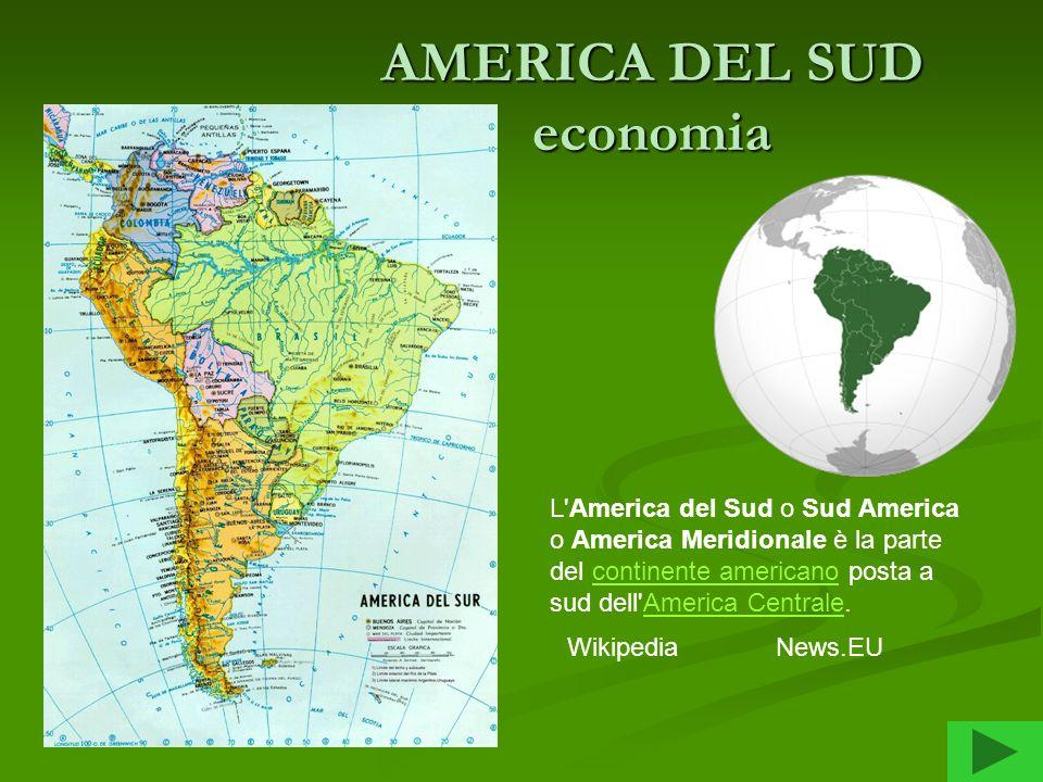 AMERICA DEL SUD economia