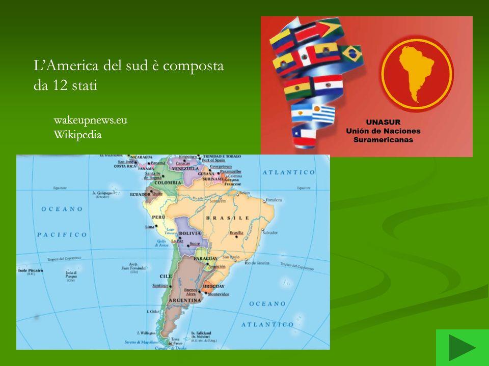 L'America del sud è composta da 12 stati