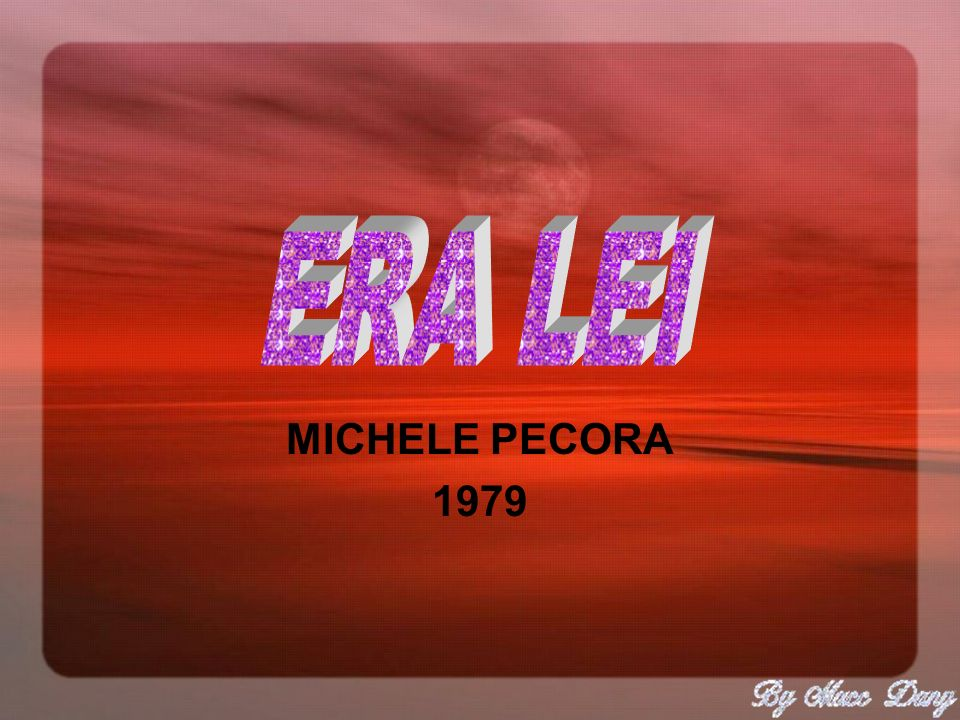 ERA LEI MICHELE PECORA 1979