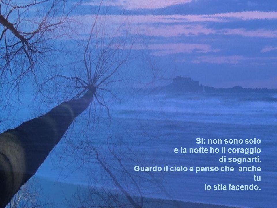 Si: non sono solo e la notte ho il coraggio. di sognarti.