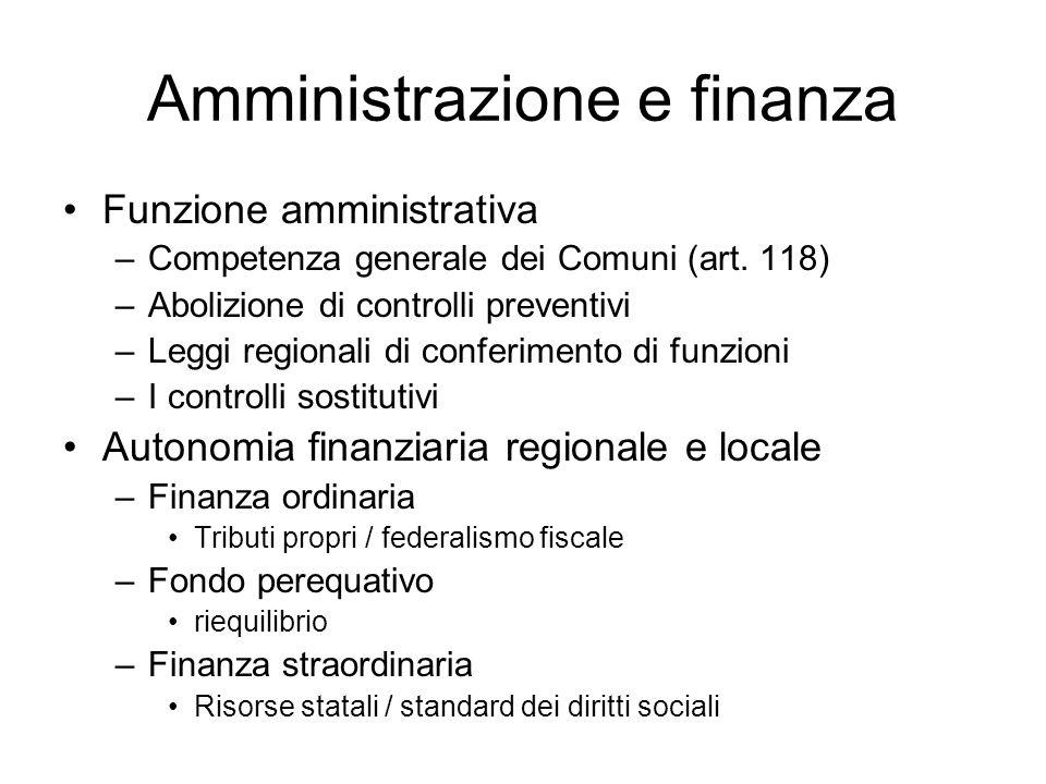Amministrazione e finanza