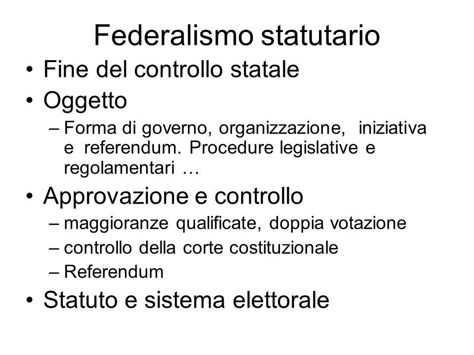 Federalismo statutario