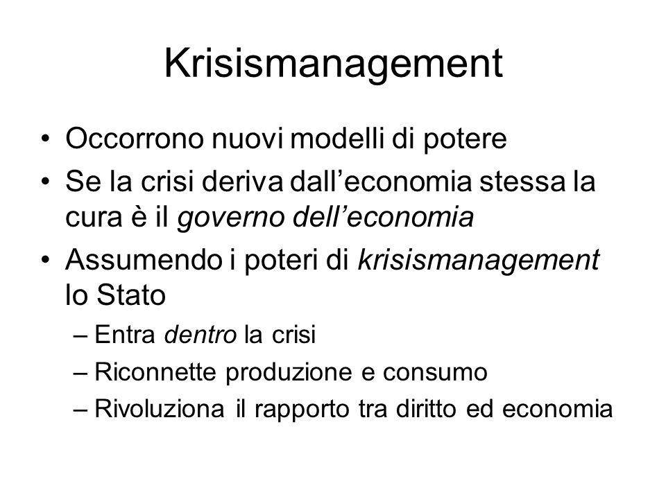 Krisismanagement Occorrono nuovi modelli di potere