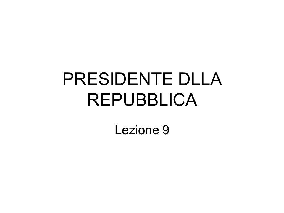 PRESIDENTE DLLA REPUBBLICA
