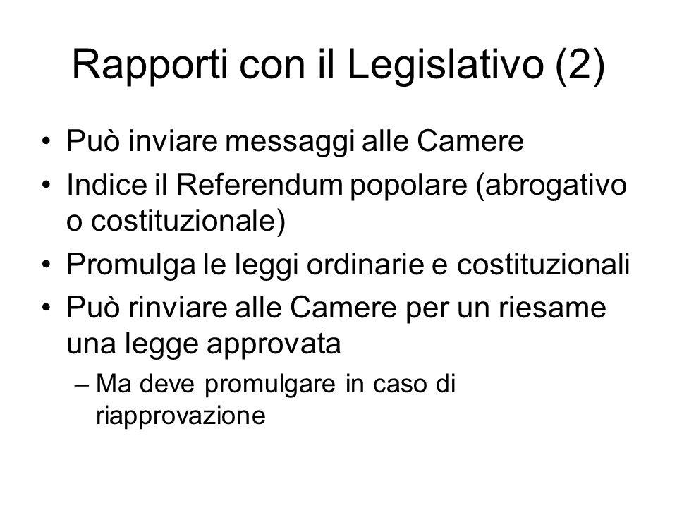 Rapporti con il Legislativo (2)