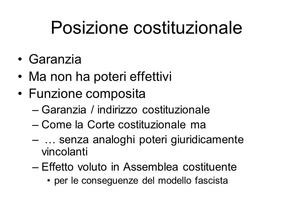 Posizione costituzionale