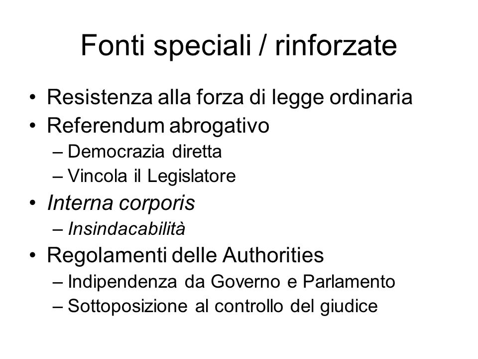 Fonti speciali / rinforzate