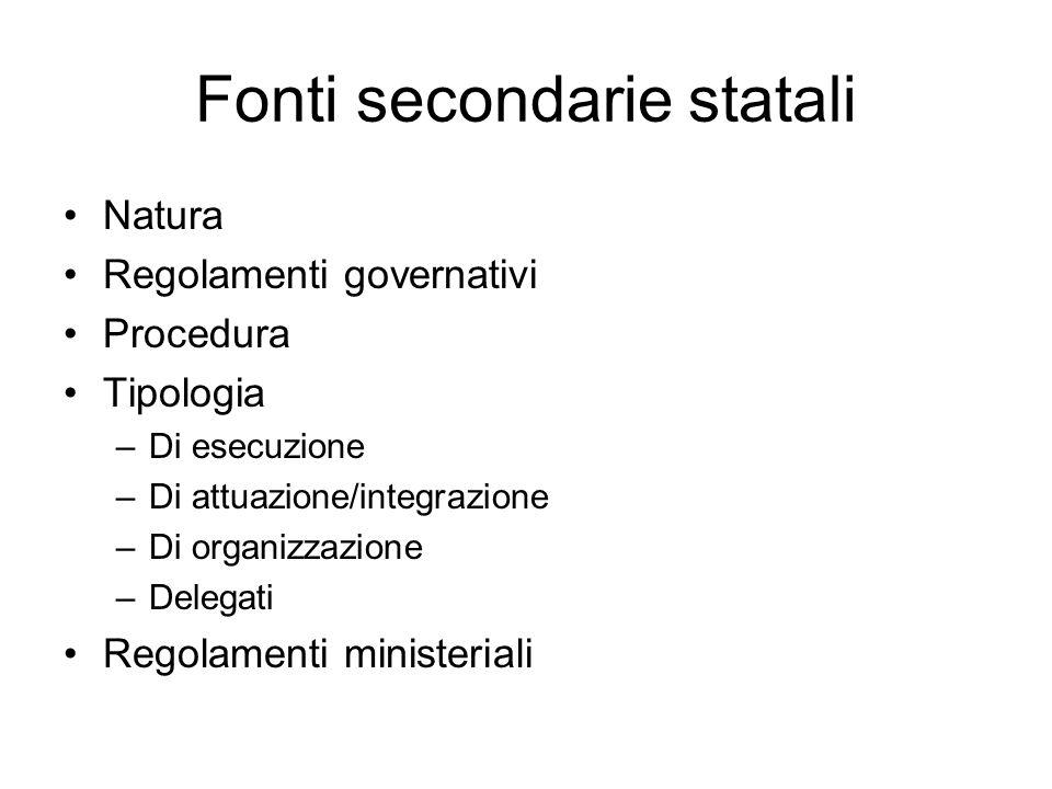 Fonti secondarie statali