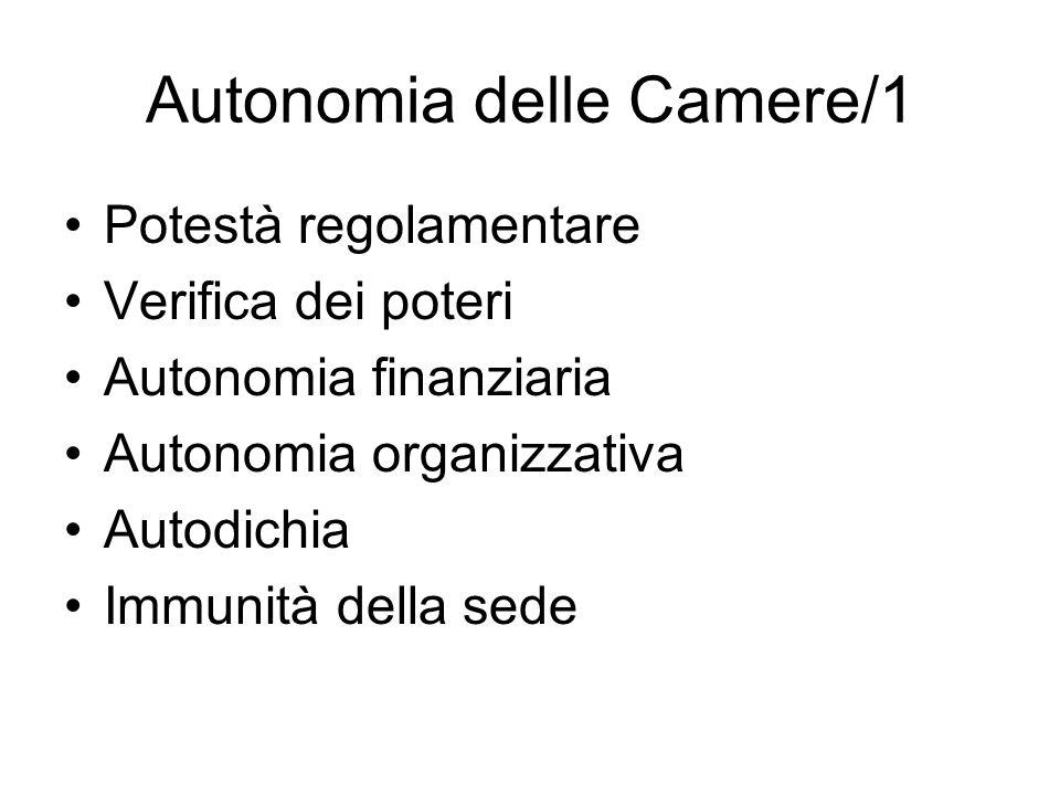 Autonomia delle Camere/1