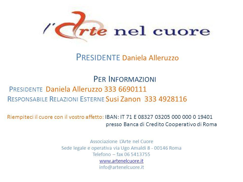 Presidente Daniela Alleruzzo