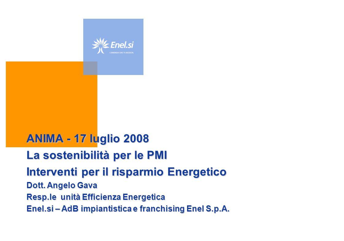 La sostenibilità per le PMI Interventi per il risparmio Energetico