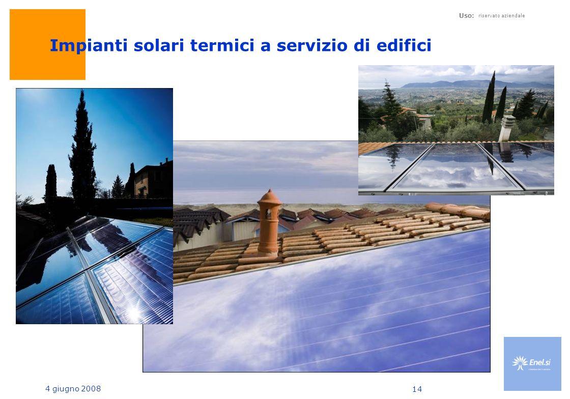 Impianti solari termici a servizio di edifici