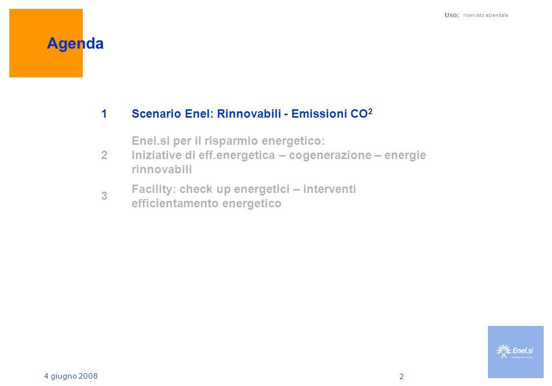 Agenda 1 Scenario Enel: Rinnovabili - Emissioni CO2 2