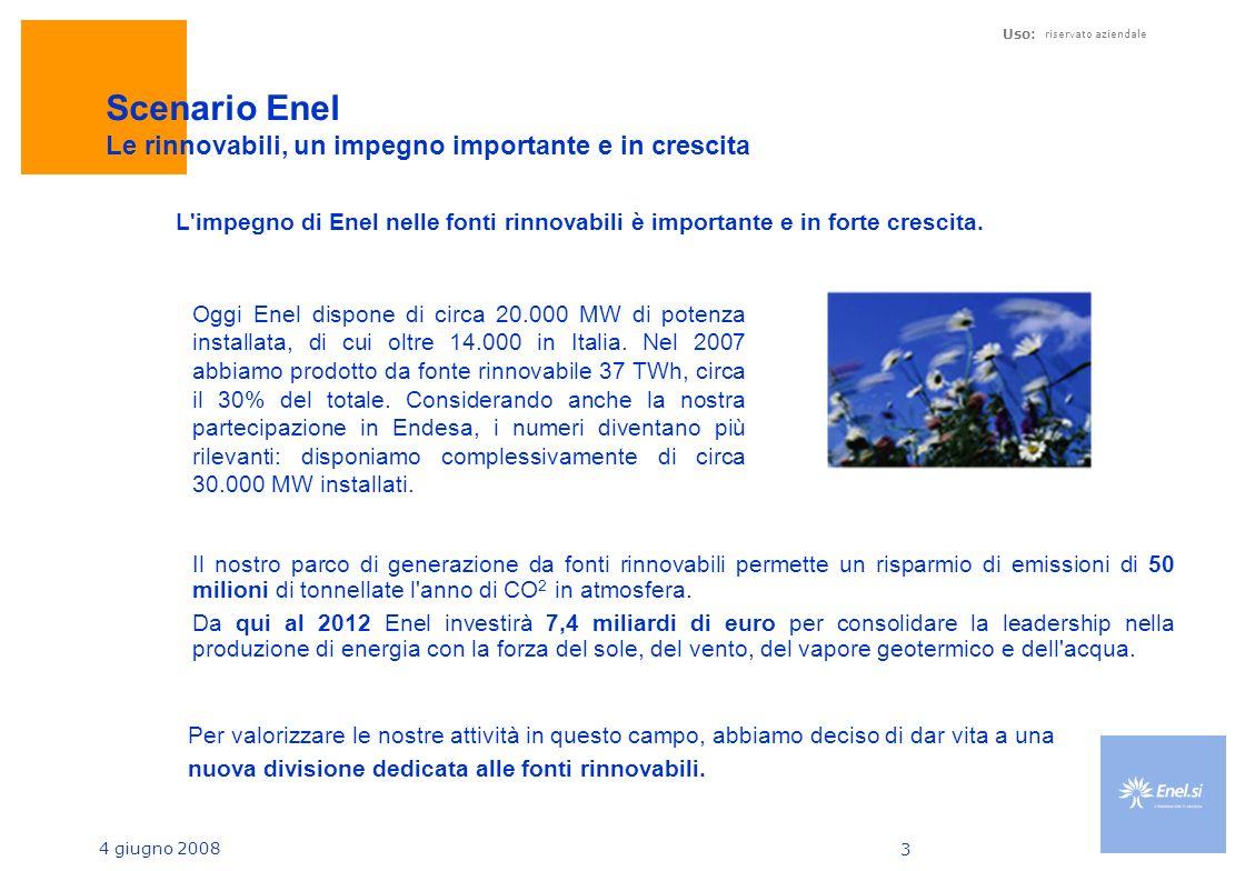 Scenario Enel Le rinnovabili, un impegno importante e in crescita