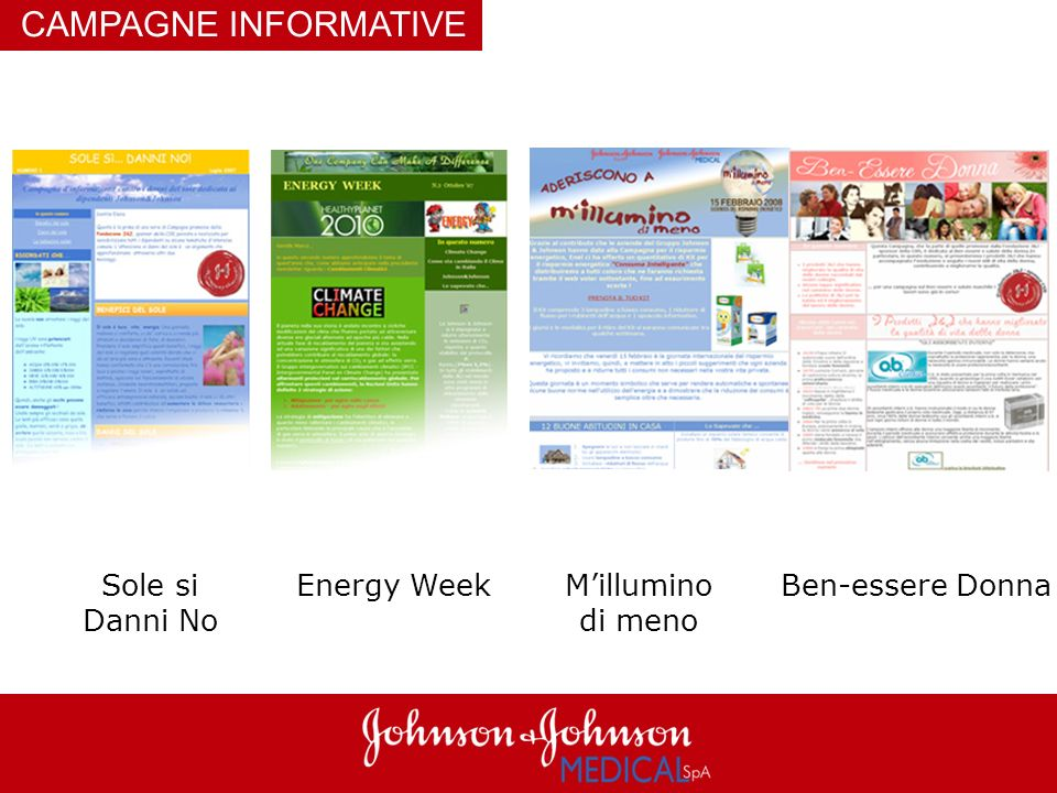 CAMPAGNE INFORMATIVE Sole si Danni No Energy Week M'illumino di meno