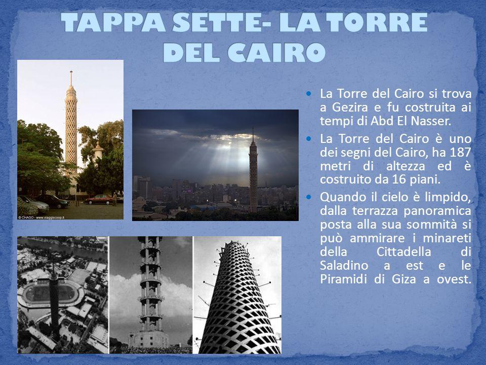 TAPPA SETTE- LA TORRE DEL CAIRO