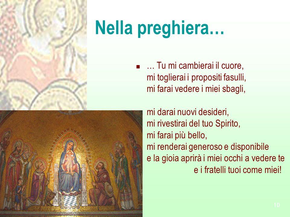 Nella preghiera…