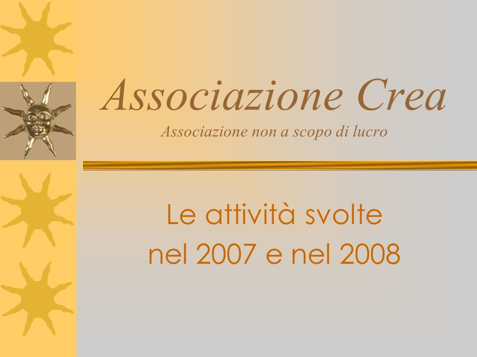 Associazione Crea Associazione non a scopo di lucro