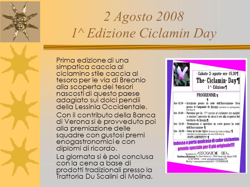 2 Agosto 2008 1^ Edizione Ciclamin Day
