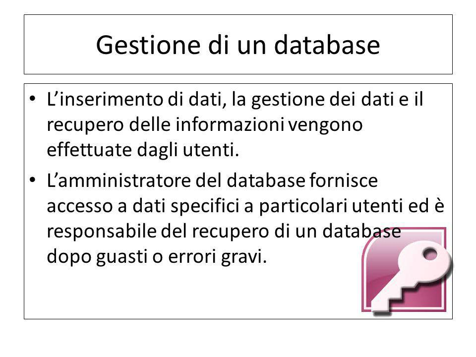 Gestione di un database
