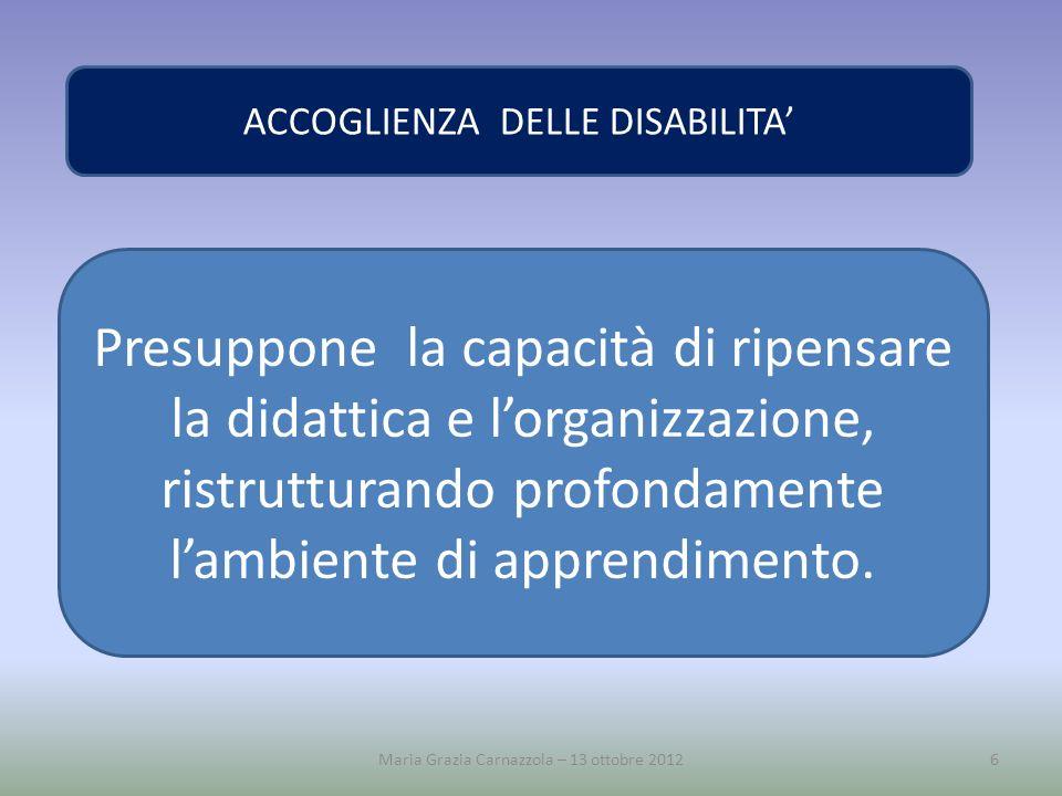 ACCOGLIENZA DELLE DISABILITA'