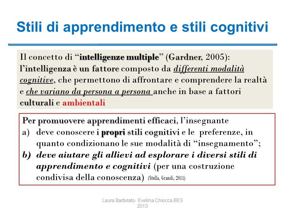 Stili di apprendimento e stili cognitivi