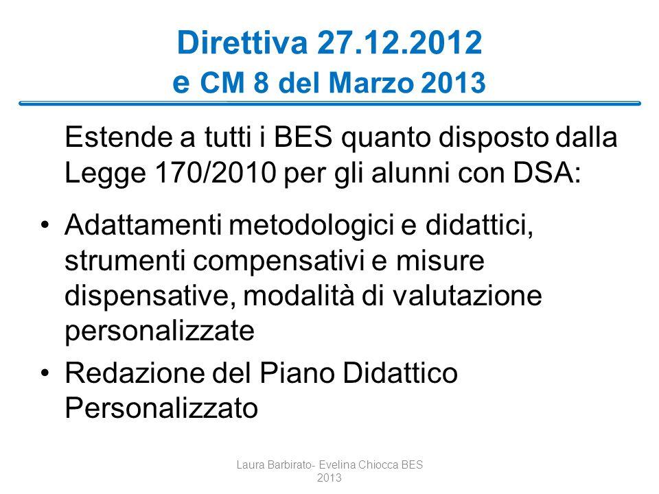 Direttiva 27.12.2012 e CM 8 del Marzo 2013