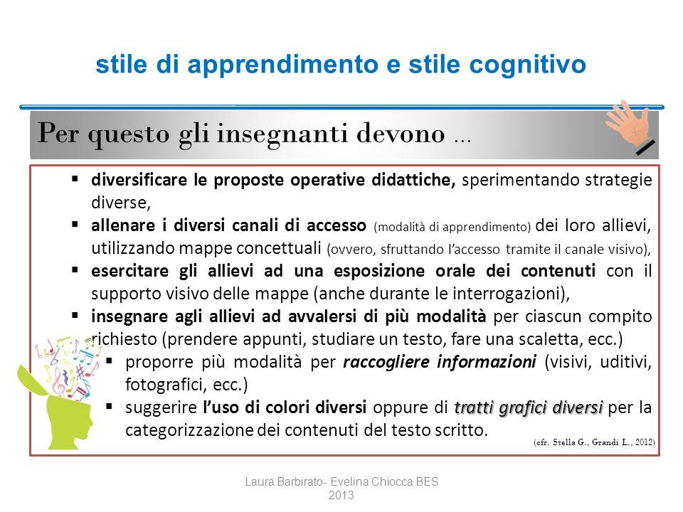 stile di apprendimento e stile cognitivo