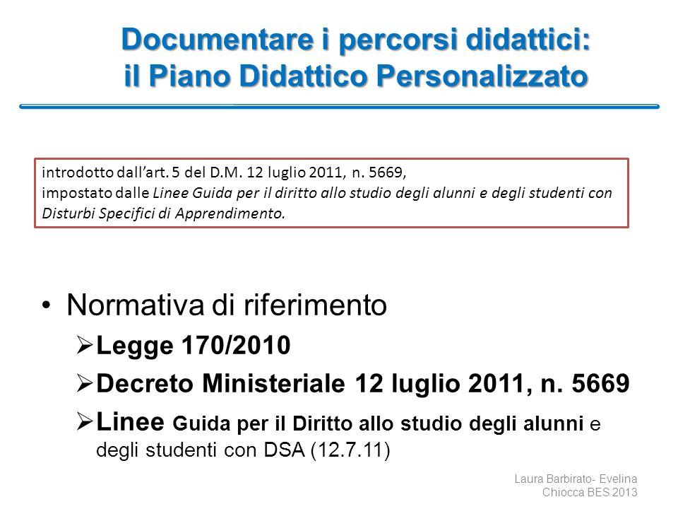Documentare i percorsi didattici: il Piano Didattico Personalizzato