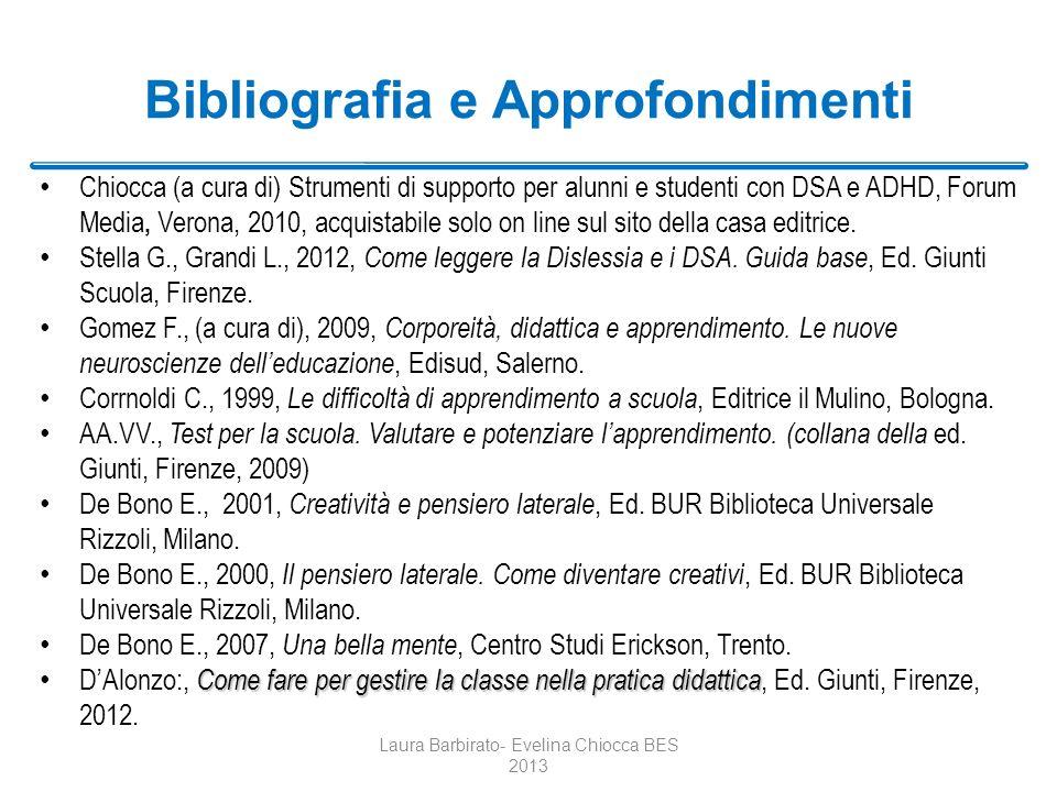 Bibliografia e Approfondimenti