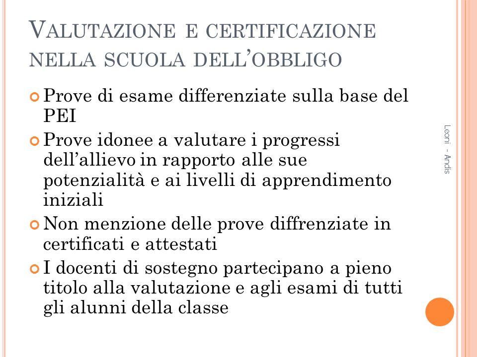 Valutazione e certificazione nella scuola dell'obbligo