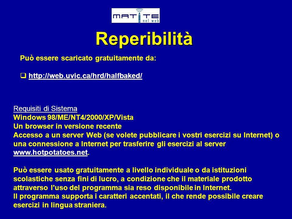 Reperibilità Può essere scaricato gratuitamente da: